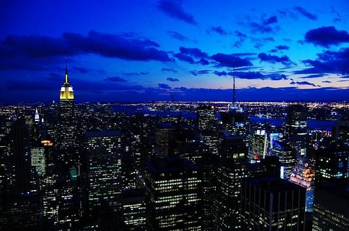 new york city skyline at night. New York Skyline at night