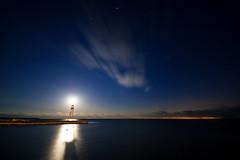 IMGP6369 (Bob West) Tags: longexposure nightphotography lighthouse ontario clouds lakeerie greatlakes fullmoon nightshots sigma1020mm erieau southwestontario bobwest eastlighthouseerieau
