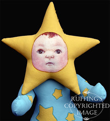 Sigrid the Star Baby, Original One-of-a-kind Folk Art Doll by Elizabeth Ruffing