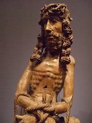 Christ in Sorrow Franco-Flemish 1460 Oak