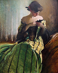 Study in Black and Green (Maulleigh) Tags: new york city white black green art museum john study alexander met metropolitan metropolitanmuseum
