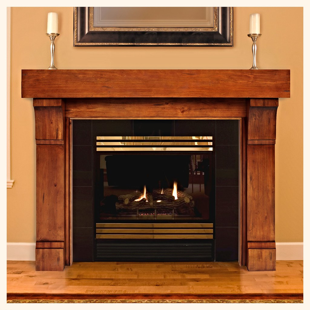 Pearl Mantle's 196 Cumberland mantle in #50 Medium Rustic Distressed