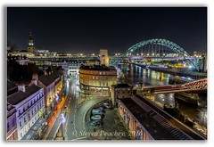 Lights At Night (Steven Peachey) Tags: newcastle night cityscape canon light trails city ef1740mmf4l canon6d lightroom5 stevenpeachey newcastleupontyne le longexposure