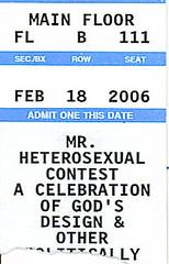 Mr. Hetero Ticket