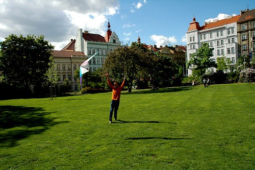 Flying a Kite in Vrsovice, Prague