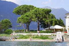 Lago di Como * (* andrew) Tags: travel vacation italy lake tree slr beach water digital canon eos 350d italia bank shore dslr lombardo comolake lagodicomo 70200mm lombardy