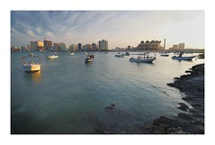 :: Juffair Beach :: (Simon_Chauvin) Tags: sunset boats bahrain nikon wideangle nikkor juffair 1224 d80