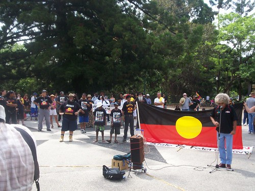 Brother Lyle Monroe - Invasion Day Rally and March, Parliament House, George St, Brisbane, Queensland, Australia 070126
