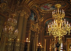 Golden room (bekahpaige) Tags: paris france art gold opera europe chandelier operahouse foyer neobaroque palaisgarnier opulence extravagant
