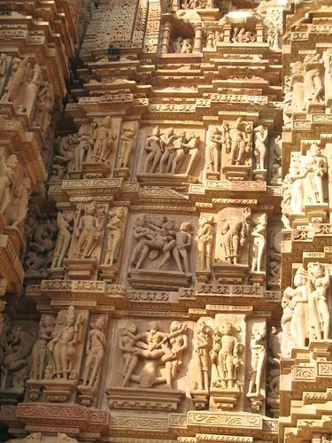 Kandariya Mahadeva temple wall erotic sculptures, Khajuraho - cool_spark