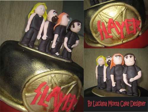 Bolo De Aniversário De Fã Do Slayer A Slayers Fan Birthday Cake - Slayer birthday cake