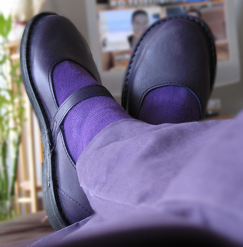 I shall wear purple.