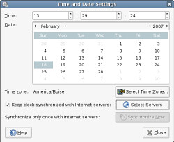 adjust date and time settings ubuntu