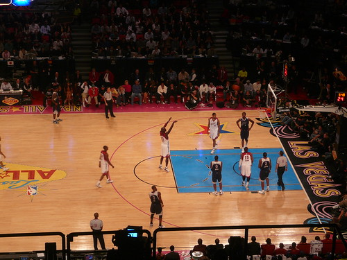 at the nba all star game