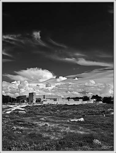 Clouds Rising BW