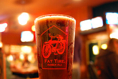1554 in a Fat Tire Pint (mfajardo) Tags: new beer glass d50 michael nikon belgium fort fat ale tire brewery co condensation pint collins fajardo microbrew 1554 top20beer michaeljfajardo