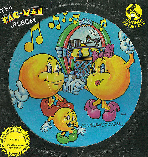 The Pac-Man Album 'limited edition'- Pic Disc (( 1980 - 1982?! )) :: Sleeve i