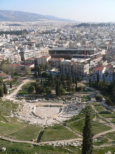 Dionysosteatret og det nye Akropolismuseum