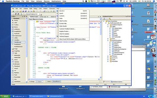 Visual Web Developer 2005 Express Edition on a Mac