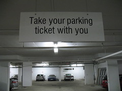 Take Your Parking Ticket With You