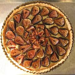 Fresh Fig and Pistachio Frangipane Tart - Baked