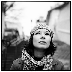 lily (Laurent Orseau) Tags: bw paris stairs hasselblad503cw