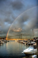 Coal Harbour Rainbow (Duane Storey) Tags: vancouver blog rainbow hdr coalharbour