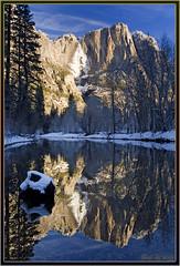 Reflected Angel (Thi) Tags: winter yosemitefalls merced yosemite mercedriver swingingbridge