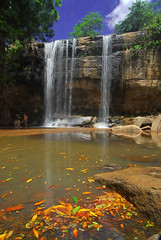 Sheldrick's Falls (jay_kilifi) Tags: blue trees sky orange green leaves shower kenya falls cascade pouring watefall naturesfinest shimba mywinners sheldricks