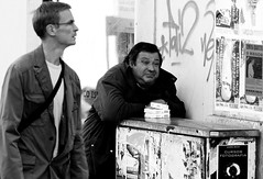 The Kleenex seller (pedrosimoes7) Tags: life street people bw portugal kleenex lisboa lisbon candid streetlife seller cpt absorbed streetshot chiado 1on1 fotojornalismo streetimages fotoperiodismo lisboanarua thecontinuum 1on1people scoremebw flickrduel fotoderua stphotographia streetpassionaward