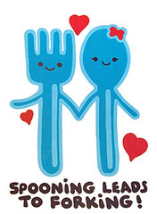 Spoon and fork II (nwg) Tags: humorous humor spooning tshirt saying slogan forking sexualinnuendo