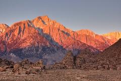 Lone Pine Peak HDR (sandy.redding) Tags: california mountains landscape geocaching desert sierranevada hdr 395 alabamahills nikkor55200mmf456g gcghhp kerncountyphotographers