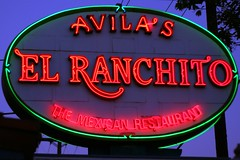 Avila's El Ranchito sign (FrogMiller) Tags: fun restaurant social mexicanfood mexican lawyers orangecounty santaana lawyer happyhour theoc stpatricksday attorney mexicanrestaurant attorneys elranchito avilas ocbarristers ocbar avilaselranchito