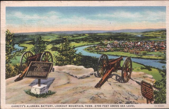 1938 Post Card: Garrity's Alabama Battery