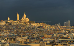 Stormy Sunset over Paris | davidgiralphoto.com (David Giral | davidgiralphoto.com) Tags: sunset sky urban david paris france skyline dark landscape nikon europe raw cityscape nation coeur roofs sacrcoeur single capitale d200 arcdetriomphe hdr sacr toits giral nikond200 18200mmf3556gvr tthdr abigfave copyrightdgiral davidgiral travelerphotos wowiekazowie