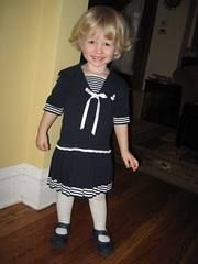 Z models her sailor dress
