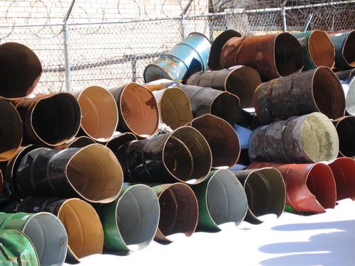 Barrels in Snow