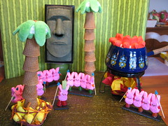 2012: Survivor: Easter Island (andrea z) Tags: pink green bunnies yellow easter chief bondage palmtree chicks peep possible really dots mischief easterisland christians diorama survivor heathens kraft badcraft icecreamcones tikihead gumdrop firstcourse fonduepot definite secondcourse cocktailnapkins peepdiorama peepibals mrtikihead kleenexdispenser paperfromhollanders crocodileskinpaper peepchief noitneveroccurredtousthiscouldhappen dotscandy peepeatpeepworld drumsofcourseitneededdrums