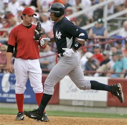 Yankees Reds Spring Baseball