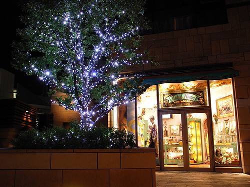 Illuminations of the storefront