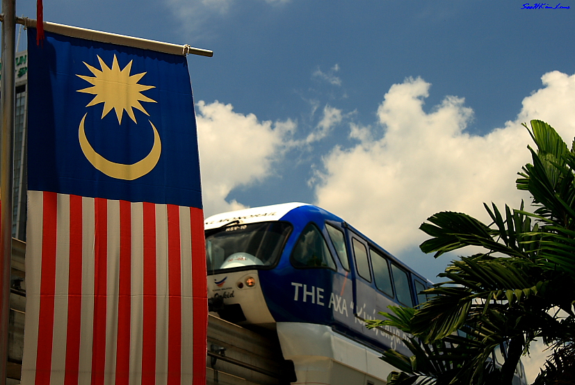 Malaysian Flag @ Maharajalela monorail station KL