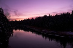 River set (Mark Veitch) Tags: trees sunset snow ice water tag3 taggedout newfoundland river dark tag2 tag1 purple farm naturesfinest markland