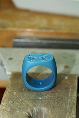 PICT1703 (jon m ryan) Tags: art silver aluminum workinprogress craft jewelry ring sterling process anodized jonryan