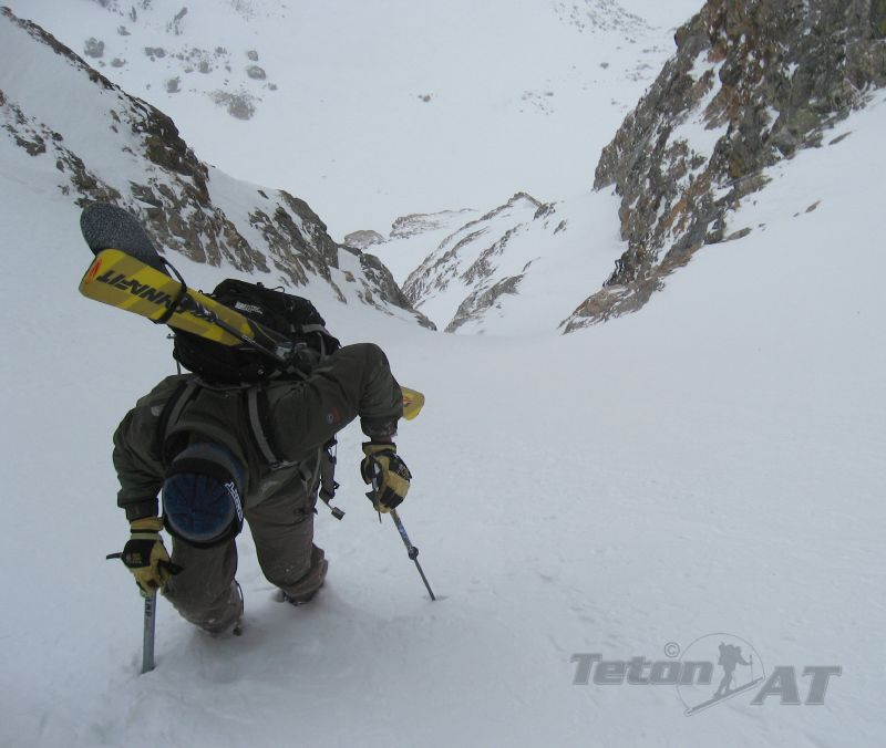Figs powers up the couloir