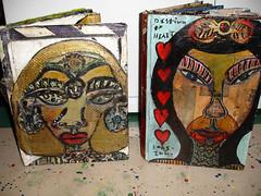 Anne Marie Grgich Books 2005-2007 (Anne Marie Grgich) Tags: portrait outsiderart books selftaught ag heads mm amg grgich visionaryartist annegrgich anniegrgich anniemariegrgich collagebooks richlypaintedbooks