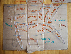 map of usa from memory (Nad) Tags: usa canada japan mexico iceland wire pacific map atlantic cardboard memory bermuda states theunitedstatesofamerica borders