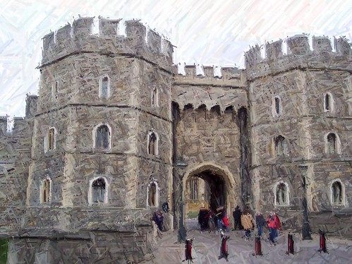 windsor castle colored pencil
