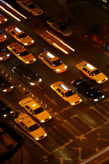 New York Taxis (c8132) Tags: newyorkcity manhattan taxis nighttime citystreets