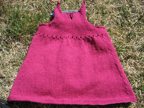 Eyelet Dress - back done!