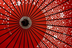 kasa (Farl) Tags: travel red colors japan umbrella paper handicraft japanese kyoto parasol tradition kiyomizu kiyomizudera